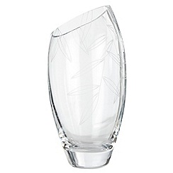 Debenhams - Medium leaf etched vase