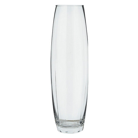 Betty Jackson.Black - Glass etched tall bullet vase