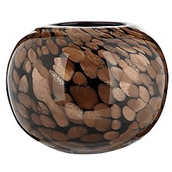 Star by Julien Macdonald - Small black 'Flecks' vase
