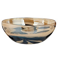 Star by Julien MacDonald - Gold lustre glass bowl