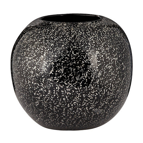 Star by Julien Macdonald - Black round glitter vase