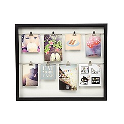 Umbra - Black double clip line wooden photo frame