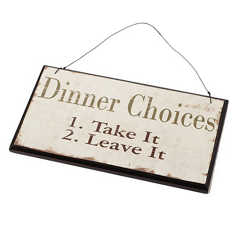 Heaven Sends - Dinner Choices' sign
