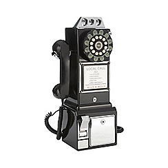 Wild & Wolf - Black 1950s diner phone
