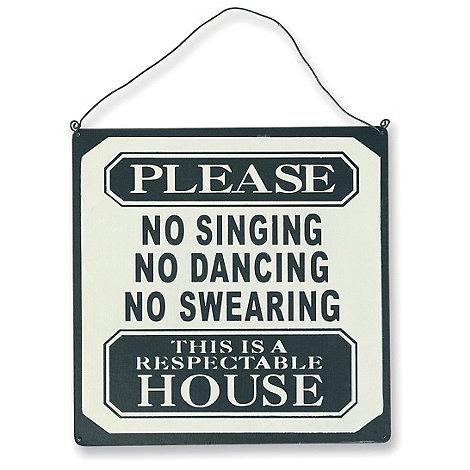 dotcomgiftshop - Cream +Respectable House+ sign