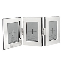 J by Jasper Conran - Silver plated triple hinged photo frame