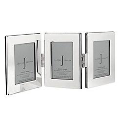J by Jasper Conran - Silver plated triple hinged photo frame