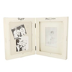 Heaven Sends - Cream hinged wooden photo frame