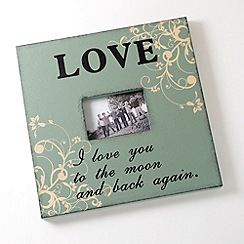 Heaven Sends - Green 'Love' photo frame