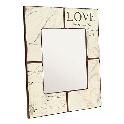 Heaven Sends - Wood +Love+ wall mirror