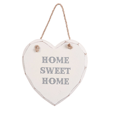 Sass & Belle - White +Home Sweet Home+ wooden sign