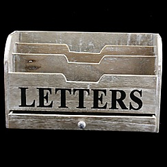 Gisela Graham - Natural 'Letters' storage box