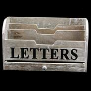 Natural 'Letters' storage box