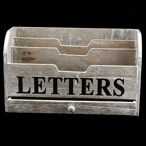 Gisela Graham - Natural +Letters+ storage box