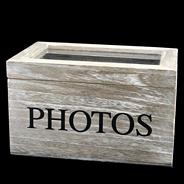 Natural 'Photos' storage box