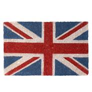 Navy Union Jack print doormat