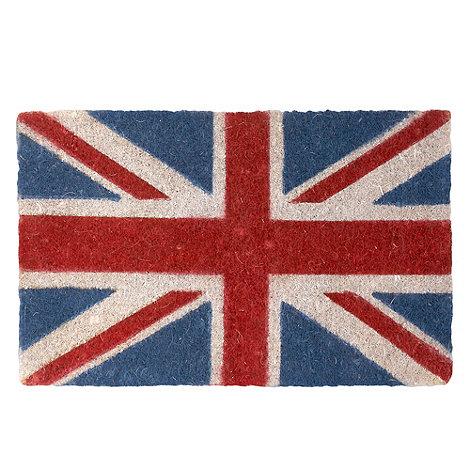 dotcomgiftshop - Navy Union Jack print doormat