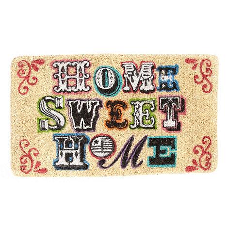 dotcomgiftshop - Beige +Home Sweet Home+ doormat
