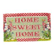 Red spotted 'Home Sweet Home' doormat
