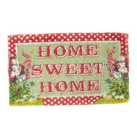 dotcomgiftshop - Red spotted +Home Sweet Home+ doormat