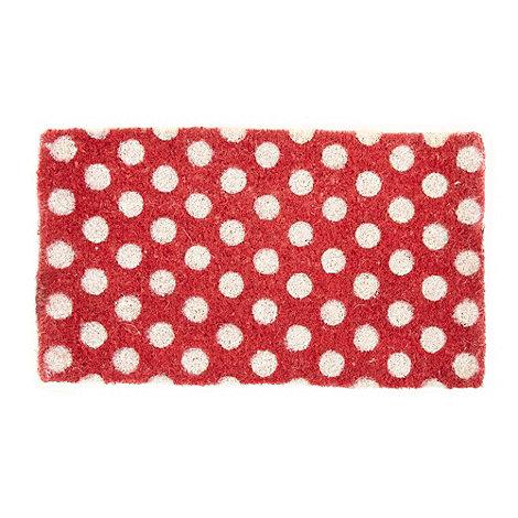 dotcomgiftshop - Red spotted doormat