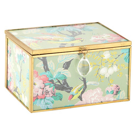 Butterfly Home by Matthew Williamson - Aqua medium glass trinket box
