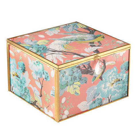 Butterfly Home by Matthew Williamson - Pink large glass bird jewellery box
