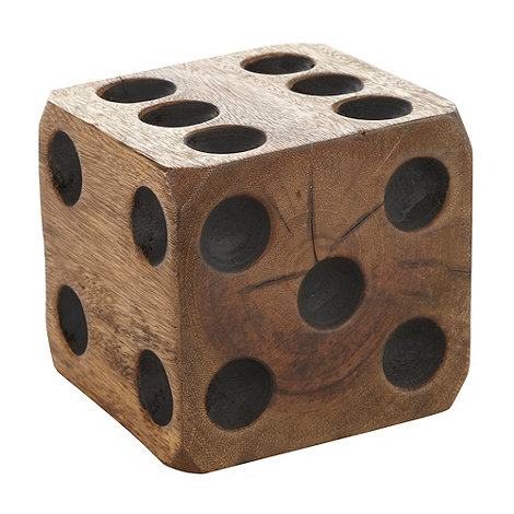 Ben de Lisi Home - Hand carved natural wood dice