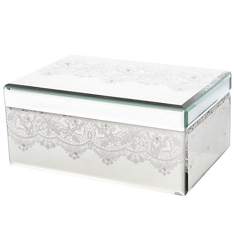 Star by Julien Macdonald - Mirror large lace print jewellery box