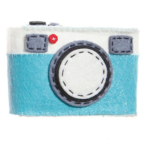 Sass & Belle - Light blue stab stitched camera case
