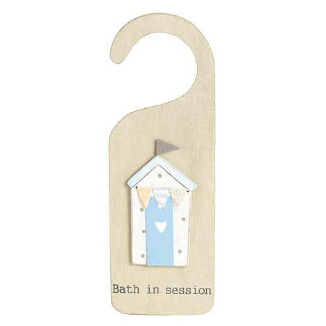 Gisela Graham - Natural painted beach hut door hanger