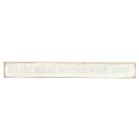 Gisela Graham - Cream +Worries wash away+ home sign