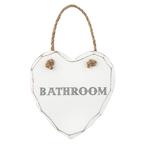 Sass & Belle - Cream +Bathroom+ sign
