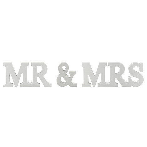 Sass & Belle - White +Mr & Mrs+ letters