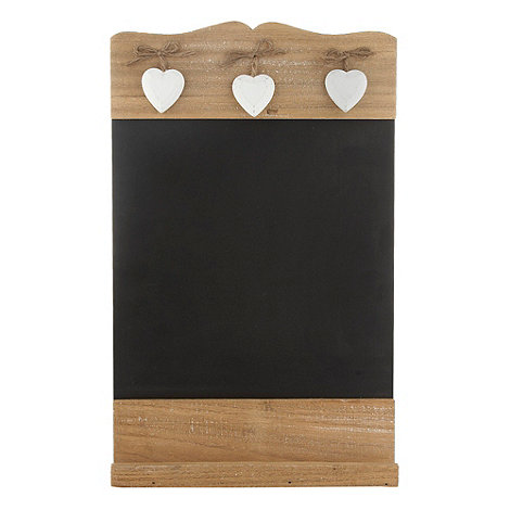 Sass & Belle - Brown wooden heart chalkboard
