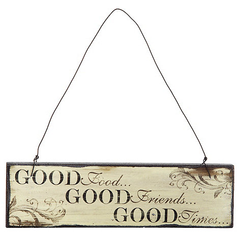Heaven Sends - Black +Good+ Friends+ hanging sign