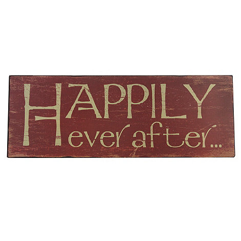 Heaven Sends - Red +Happily ever after+ hanging sign