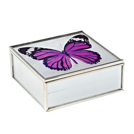 Butterfly Home by Matthew Williamson - Silver small butterfly jewellery box