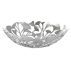 RJR.John Rocha - Silver cut out leaf shaped bowl