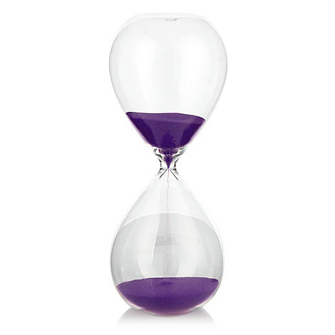 Ben de Lisi Home - Purple small hourglass timer
