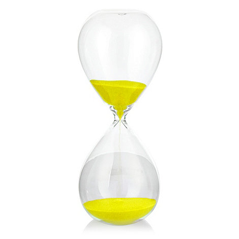 Ben de Lisi Home - Yellow small hourglass timer