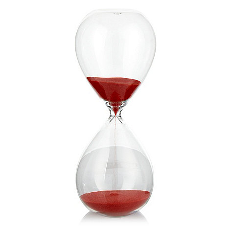 Ben de Lisi Home - Red large hourglass timer