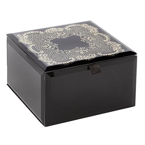 Star by Julien Macdonald - Small black lace trinket box