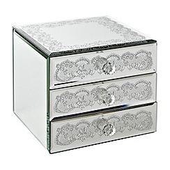 Star by Julien MacDonald - Silver lace storage box