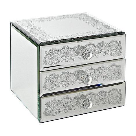 Star by Julien Macdonald - Silver lace storage box