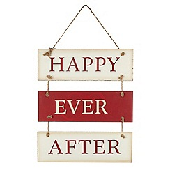 Debenhams - Wooden 'Happy Ever After' sign