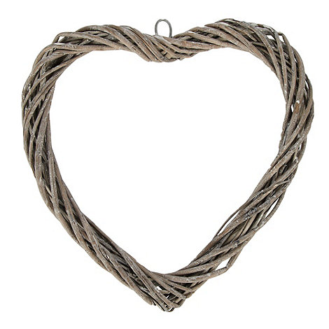 Debenhams - Grey twisted willow heart