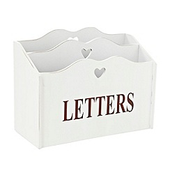Debenhams - White two section letter rack