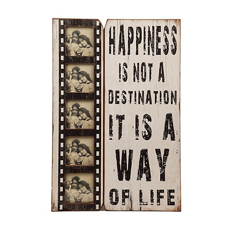 Heaven Sends - Wooden +Happiness is..+ multi frame
