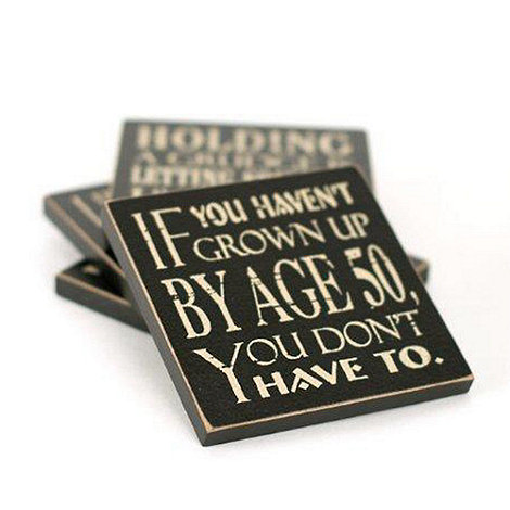 Heaven Sends - Black If you haven+t grown up+ magnet